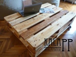 120x80-as natúr asztal, lenolajkencézve / DIY pallet table