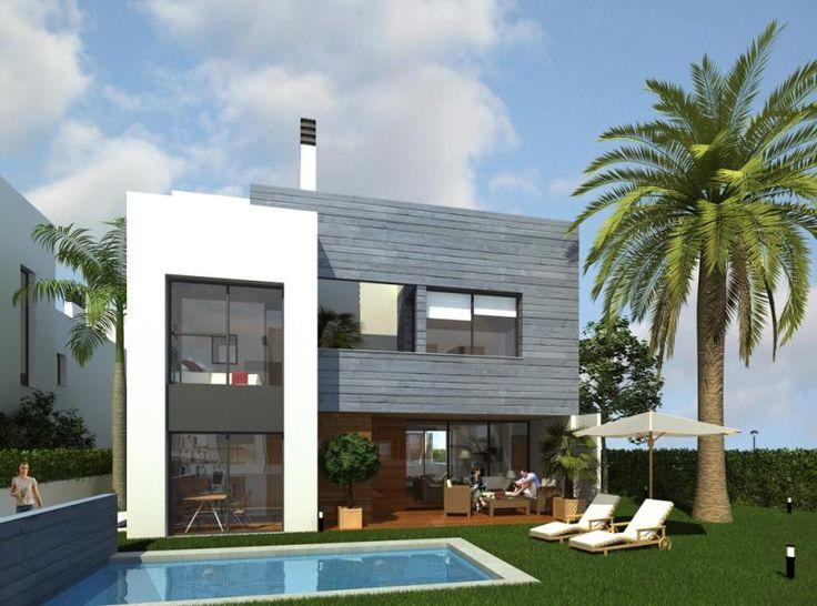 17 best images about casas on pinterest drawings house - Fachadas viviendas unifamiliares ...