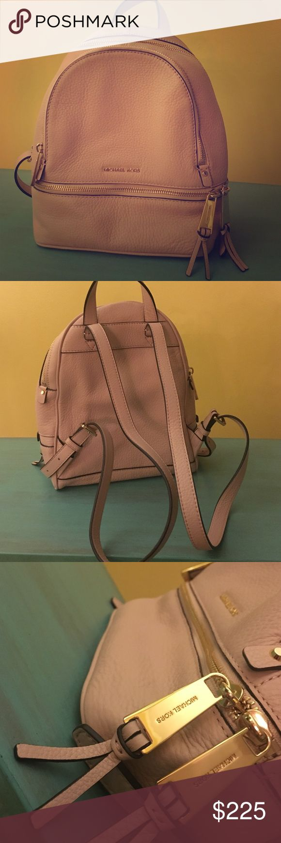 Michael Kors Rhea Backpack Purse! NWOT NWOT MK beautiful dusty rose backpack purse. Perfect condition! Never used. Adjustable straps, Super cute small sized bag!  MICHAEL Michael Kors Bags