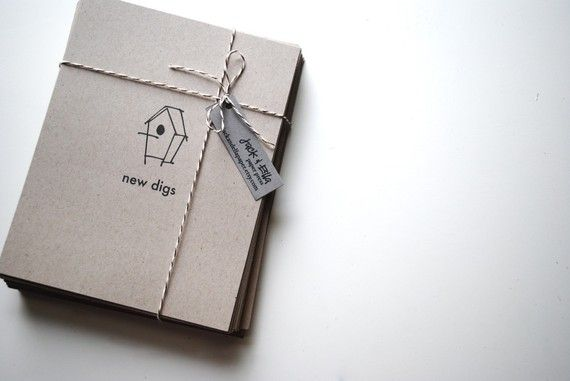 Leuk voor na verhuizen New Digs Change of Address Postcards set of door jackandellapaper, $28.00