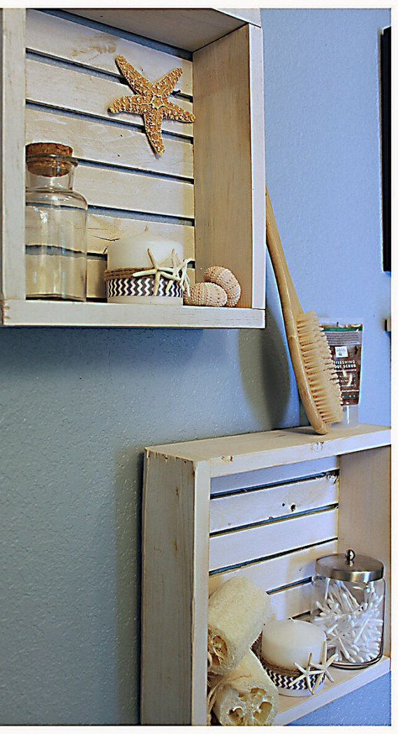 Love this nautical shelf! Perfect for our bathroom!  https://www.etsy.com/listing/201298724/wall-shelf-bathroom-shelf-beach-decor