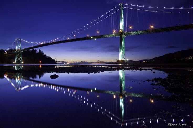 Lions Gate Bridge, Vancouver, BC #Bridge #Lions #Gate #Vancouver #Night