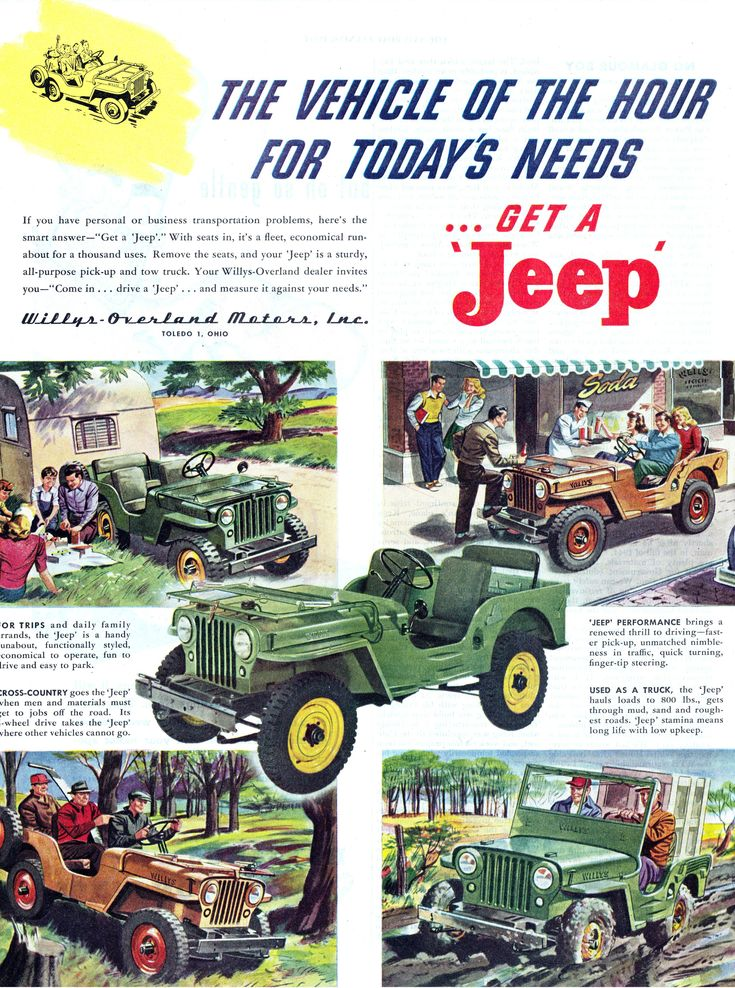 Classic #Jeep CJ-2A #advertisement. Get a Jeep! - #Manassas - Lindsay Manassas Chrysler Dodge Jeep Ram