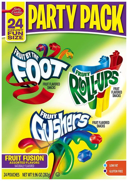 I'm learning all about Betty Crocker® Fruit by the Foot®/Fruit Roll-Ups®/Fruit Gushers® Fruit Flavored Snacks Party Pack 24 ct. Pouches at @Influenster!