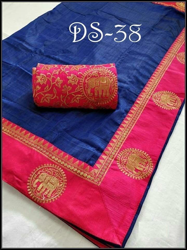46256e5d38595 Buy Blue Color Sana Silk Saree