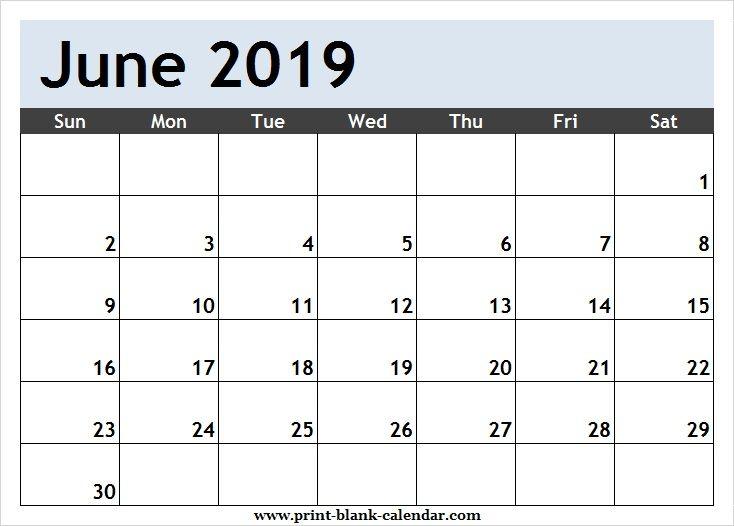 Printable Calendar June 2019 Template Pdf Excel Word Image