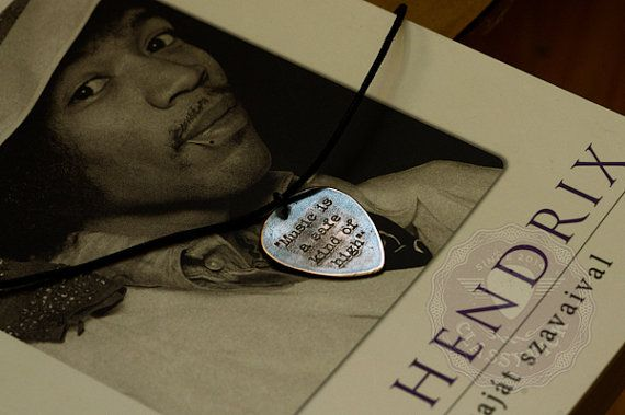 Jimi Hendrix quotes  inspirational quote guitar pick by AmulettaHu