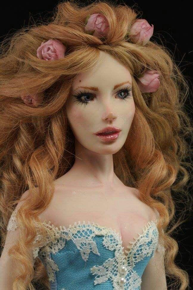 Breath of dreams ooak doll by Elettra polymer clay