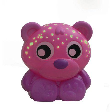 Playgro Goodnight Bear Night Light And Projector (Pink) for Baby Infant Toddler