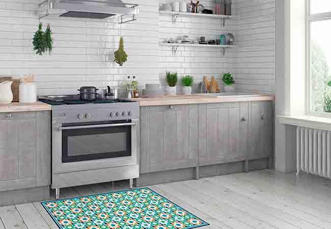 Una alfombra vinílica es una magnífica solución para el suelo de tu cocina. Descubre por qué en este post y aprovecha la campaña de Flooralia.