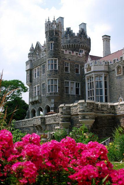 Garden view of Casa Loma in Toronto, Canada