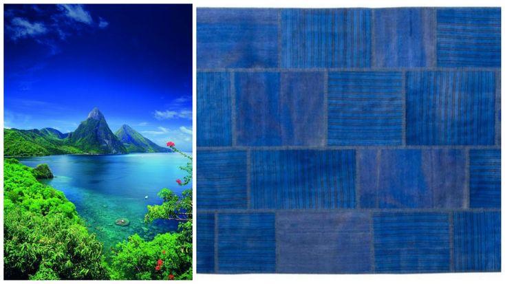Tauna - Tropisk skønhed Indigo blå er sjælden. Taunaen giver den mest ud af den vidunderlig indigo blå farve, som en sjælden og smuk tropisk destination. Det er derfor Tauna er en fin kunstværk i hvert rum.