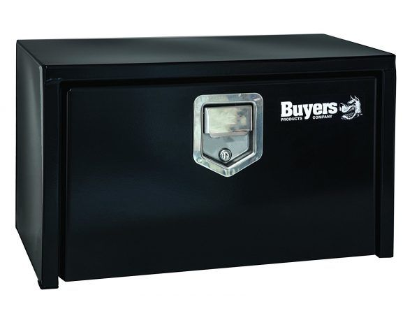 9. Buyers Products Black Steel Underbody Truck Box