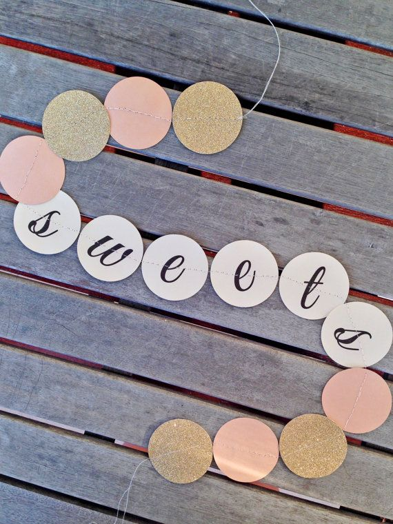 Wedding Lolly Buffet Paper Garland By MagentaDesigns On Etsy, Perfect For  The Sweets Table