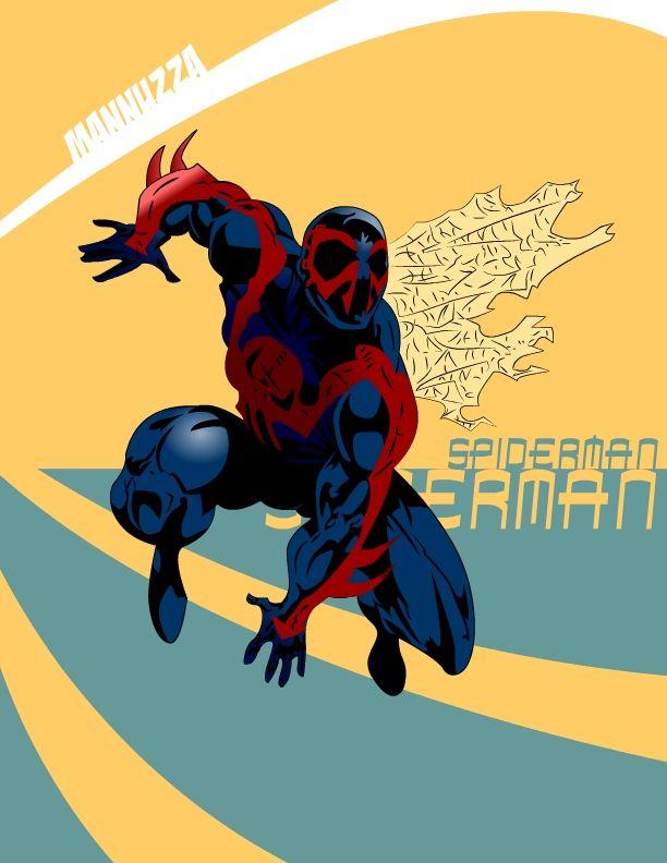 Spiderman 2099 fan art mannuzza spiderman 2099 by