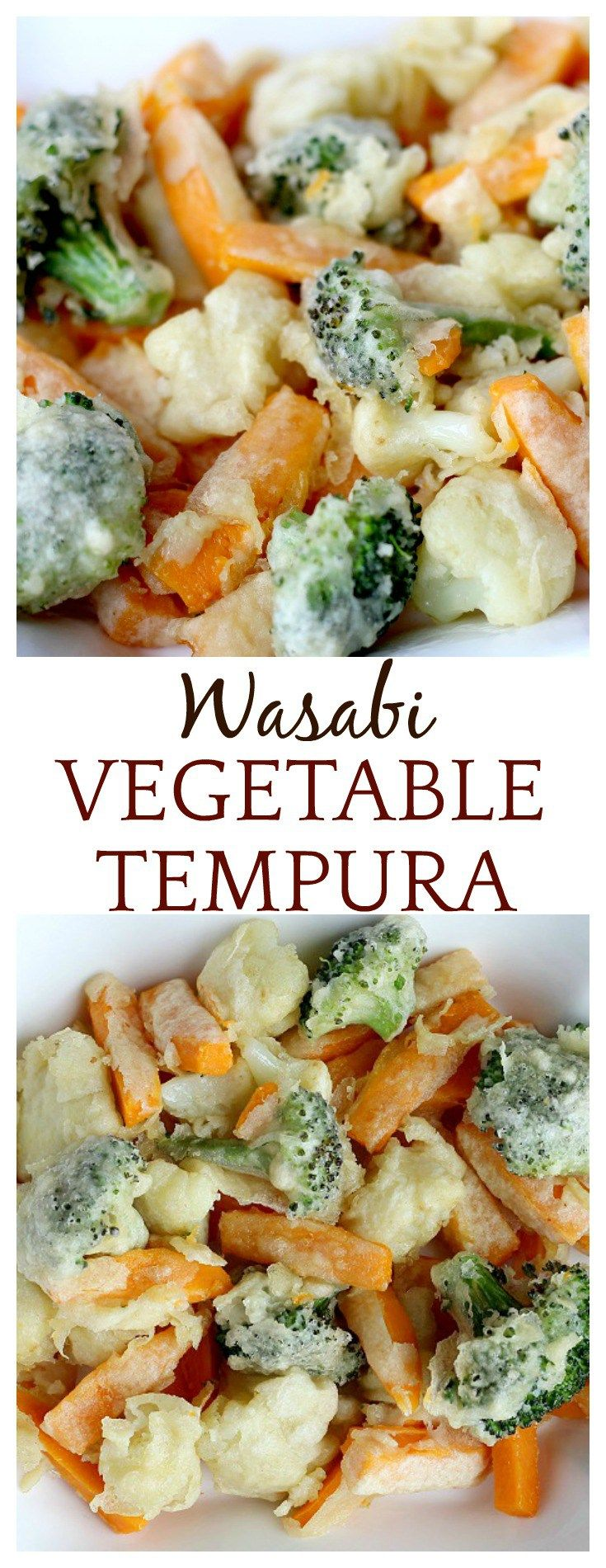 I love the addition of wasabi paste in this vegetable tempura recipe! It's the perfect Asian-inspired appetizer or side dish!