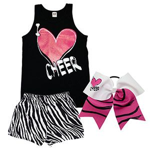 Camp is just around the corner. Check out our new camp packages!!    I Heart Cheer Zebra Campwear Package by Cheerleading Company