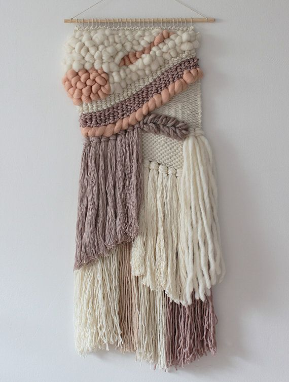 Woven wall hanging | Bohemian wall hanging | Boho style wall tapestry | Neutral colours | Textured wall hanging.  Weave