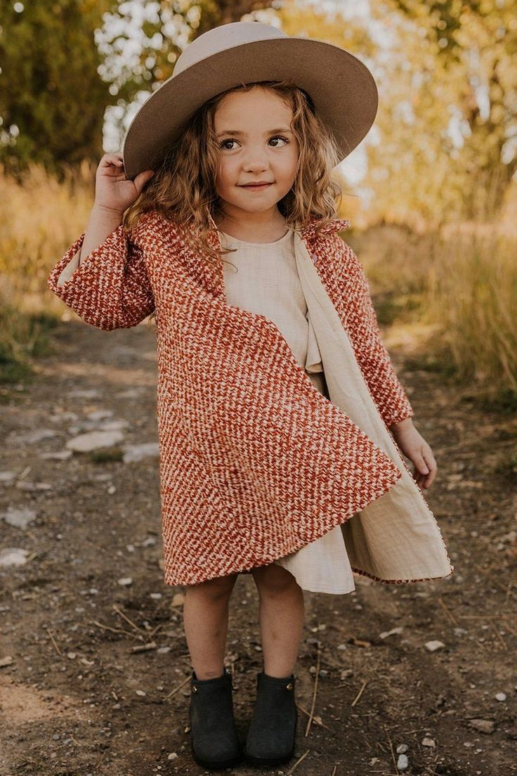 Longline Coat for Little Girls   ROOLEE