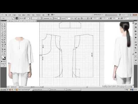 Tişört kalıbı üzerine model uygulama 16  / T-short pattern on the model ...