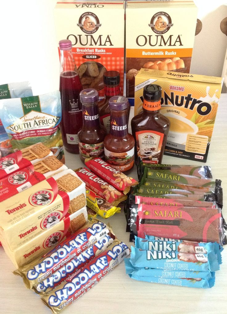 Our stash - Aldi had South African products today - a little taste of home :) When do we tuck in Tay ?