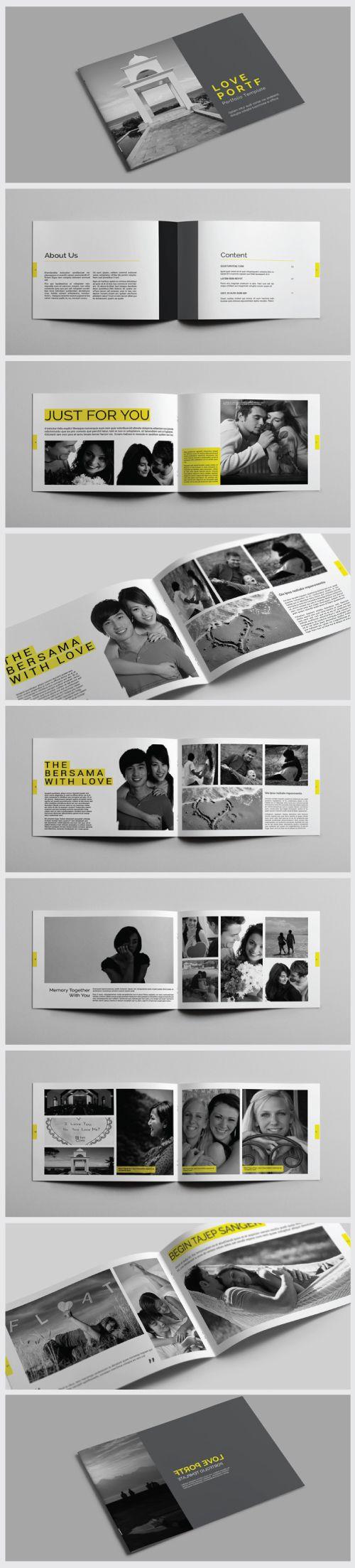 A4 / A5 Portfolio / Brochure Template #booklet #brochuredesign #brochuretemplates #catalogdesign