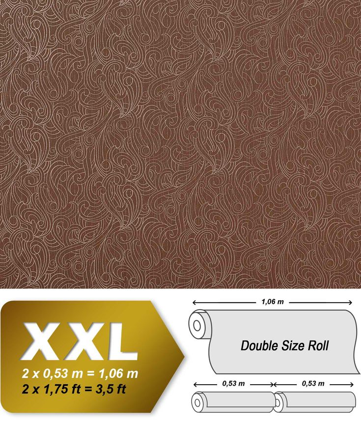 Barok behang EDEM 698-95 neo behang vliesbehang damast behang reebruin beige wit | 10,65 qm