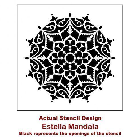 Mandala  Wall Stencil ST71 Large For Walls Furniture and Art