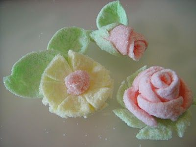Flowers from Mini Marshmallows  ~ Sugar Teachers ~ Cake Decorating and Sugar Art Tutorials: Feb 24, 2011