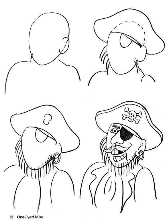 how to draw a pirate video