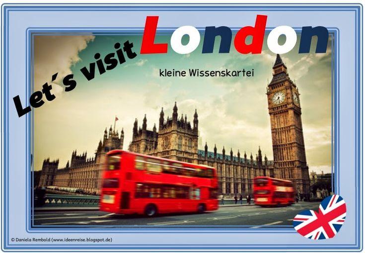 """Ideenreise: Kleine Wissenskartei """"Let´s visit London"""""""