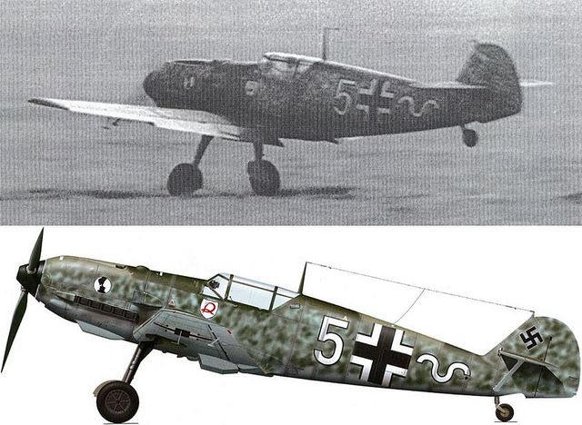 Messerschmitt Bf 109 E-1 of 7./JG2 is being flown by Hans KLEE at an airfield in the Pas de Calais, France, 1940. Hans Klee was credited with 6 confirmed victories before he died in the crash of his Me 109F-2 (W.Nr. 8131) Source : www.asisbiz.com/