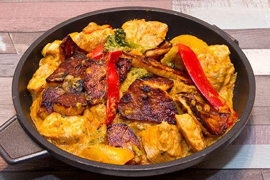 Vörös_currys_csirke_édesburgonyával