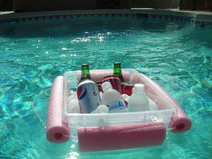 Nevera flotante para piscina