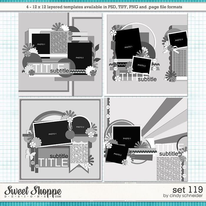 Cindy's Layered Templates - Set 119 by Cindy Schneider