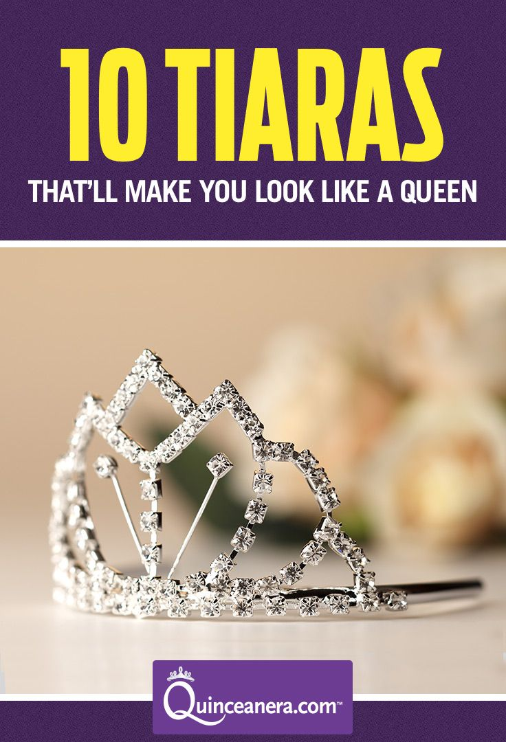 Crown yourself with one of these 10 lux Quince tiaras that will make you look like royalty and for sure create a buzz! ♥ | Tiaras and Crowns | Quinceanera Ideas |