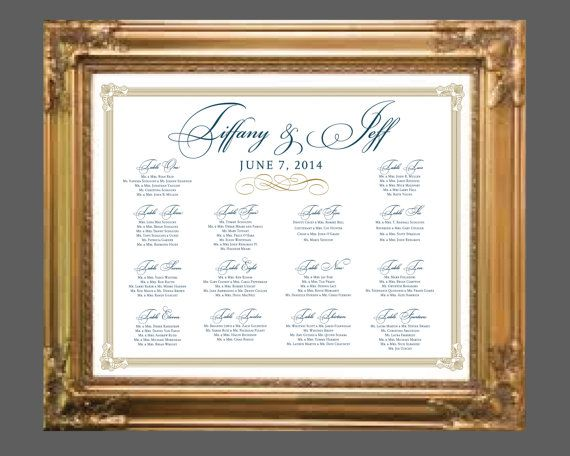 Best Seating Chart Images On   Wedding Seating Charts