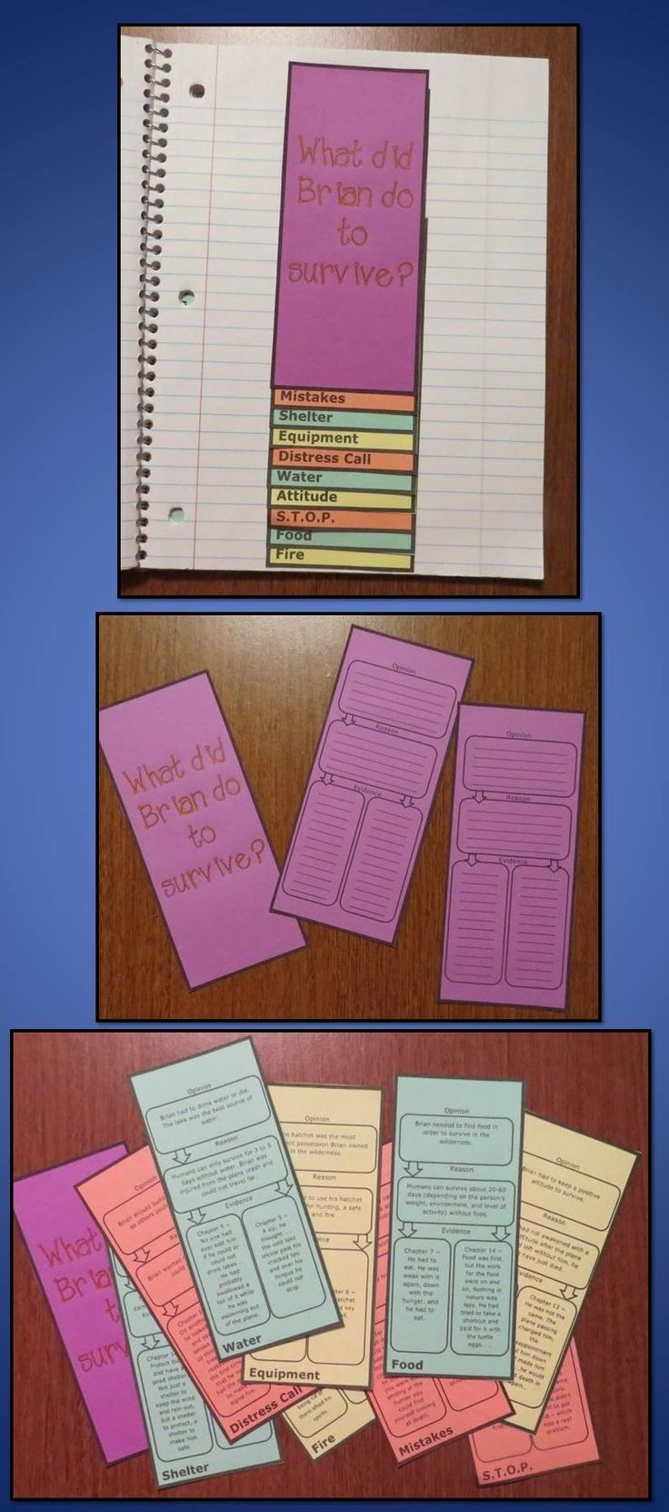 Free foldable graphic organizer to use with the book Hatchet by Gary Paulsen (includes blank version and answer key)
