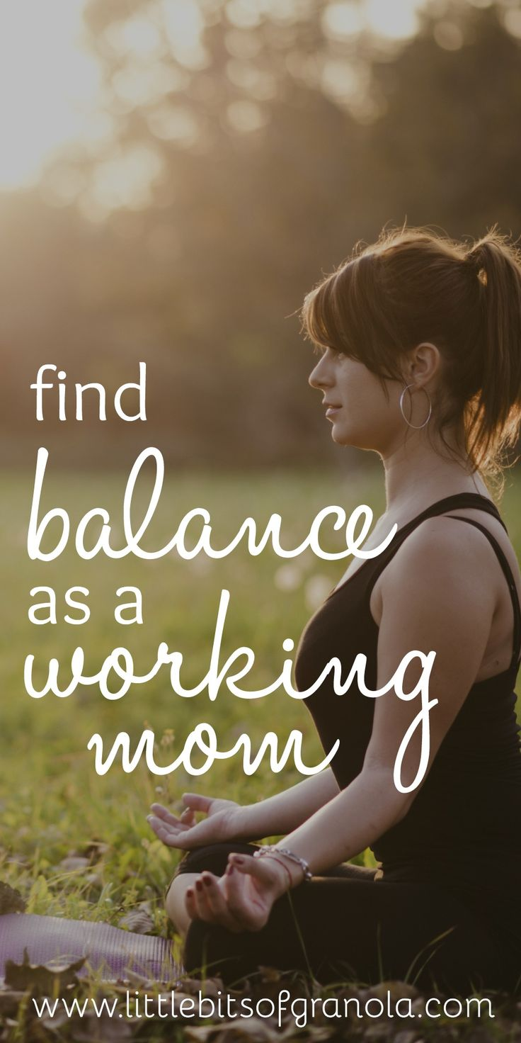 Finding balance as a working mom is such a challenge. I need to save this!