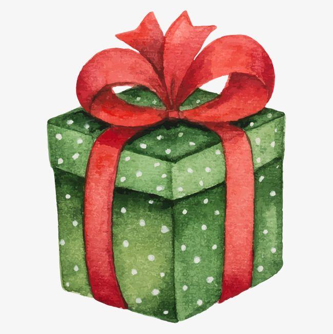 Watercolor Gift Box Vector Material Library Christmas Paintings Christmas Drawing Christmas Watercolor