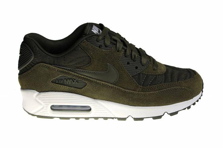 Nike Wmns Air Max 90 Prem (Acid Green/White) Suède 443817 300 Ladies' Sneakers
