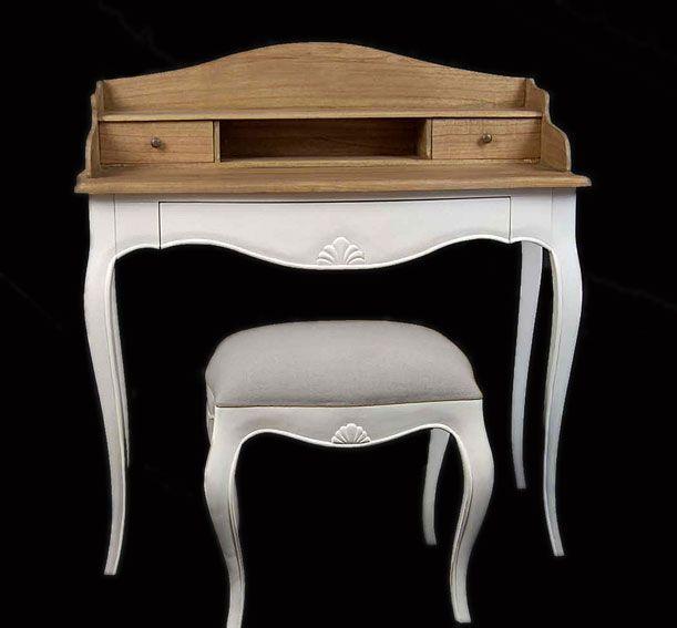 Mesa escritorio Vintage Frances   Material: Madera Tropical   Escritorio,Paris,Banqueta,Vintage,Fondo,Mesa... Desde Eur:365 / $485.45