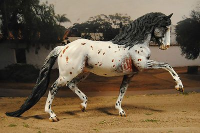 "Custom ""Totilas"" Semi Leopard Spanish Jennet Stallion by Sue R. Sudekum"