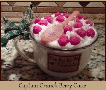 Captain Crunch Berry Coffee Cup Cutie Candle from Candles By Victoria. http://www.candlesbyvictoria.com
