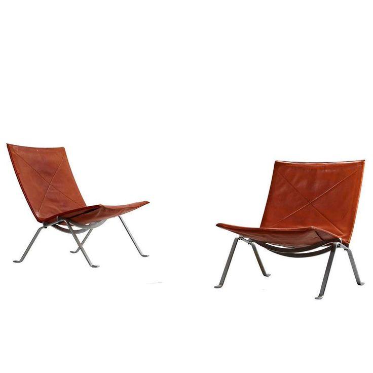 poul kjaerholm pk 22 chairs for e kold christensen original condition