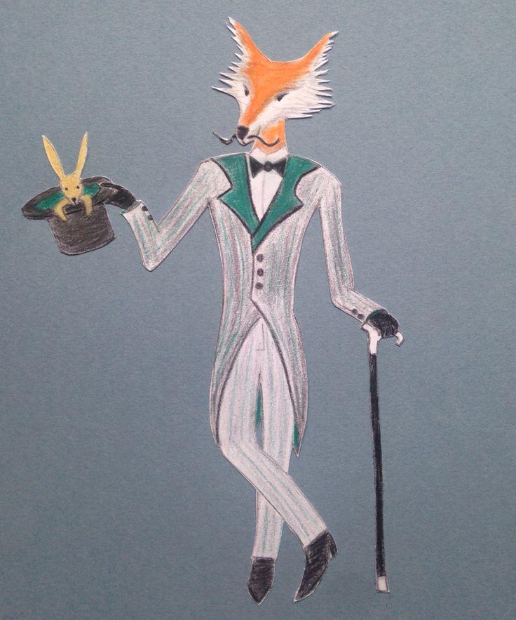 Sophisticated fox @floortinga