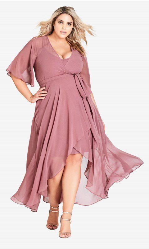736ad3c8bcb Shop Women s Plus Size Enthral Me Wrap Dress - Rose - Dresses