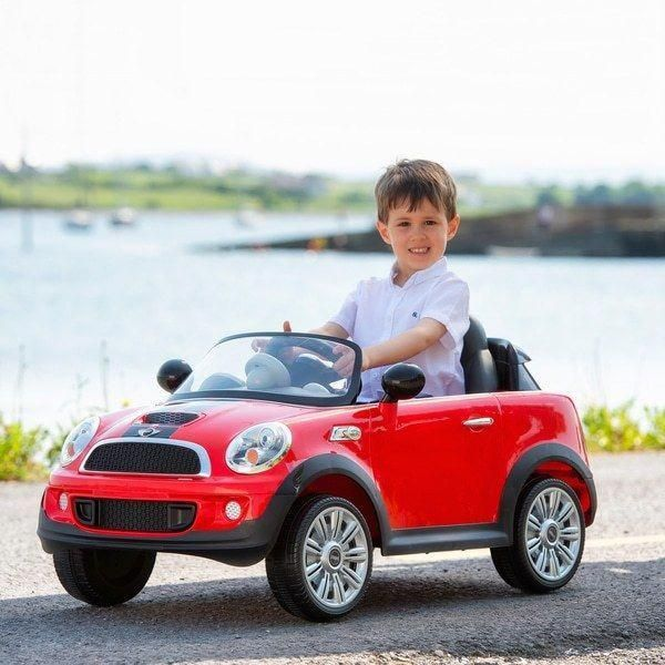 Pedal Car Ride-On Push Handle Opening Door /& Sounds Push Red Mini Cooper S