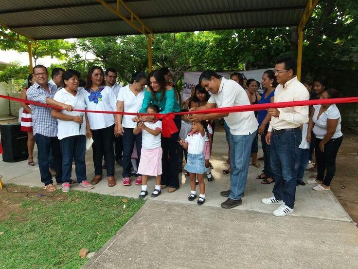 Participa Hageo Montero en inauguración del domo del Jardín de niños Luis Donaldo Colosio Murrieta