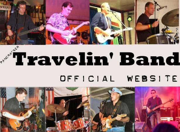 De Travelin Band is een rock 'n' roll band die zich toelegt op het spelen van rock en popnummers uit de 60′s, 70′s en 80′s tot ook het meest recente verleden. Klassiekers, maar ook vergeten pareltjes uit de rijke historie van de popmuziek. Lekkere muziek waar je niet bij stil kan blijven zitten.